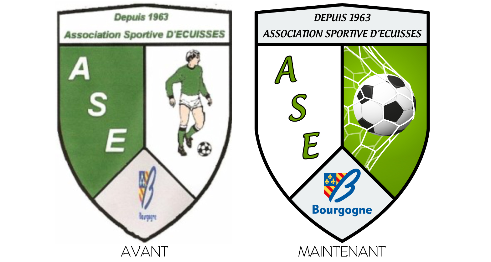 Evolution du blason ASE